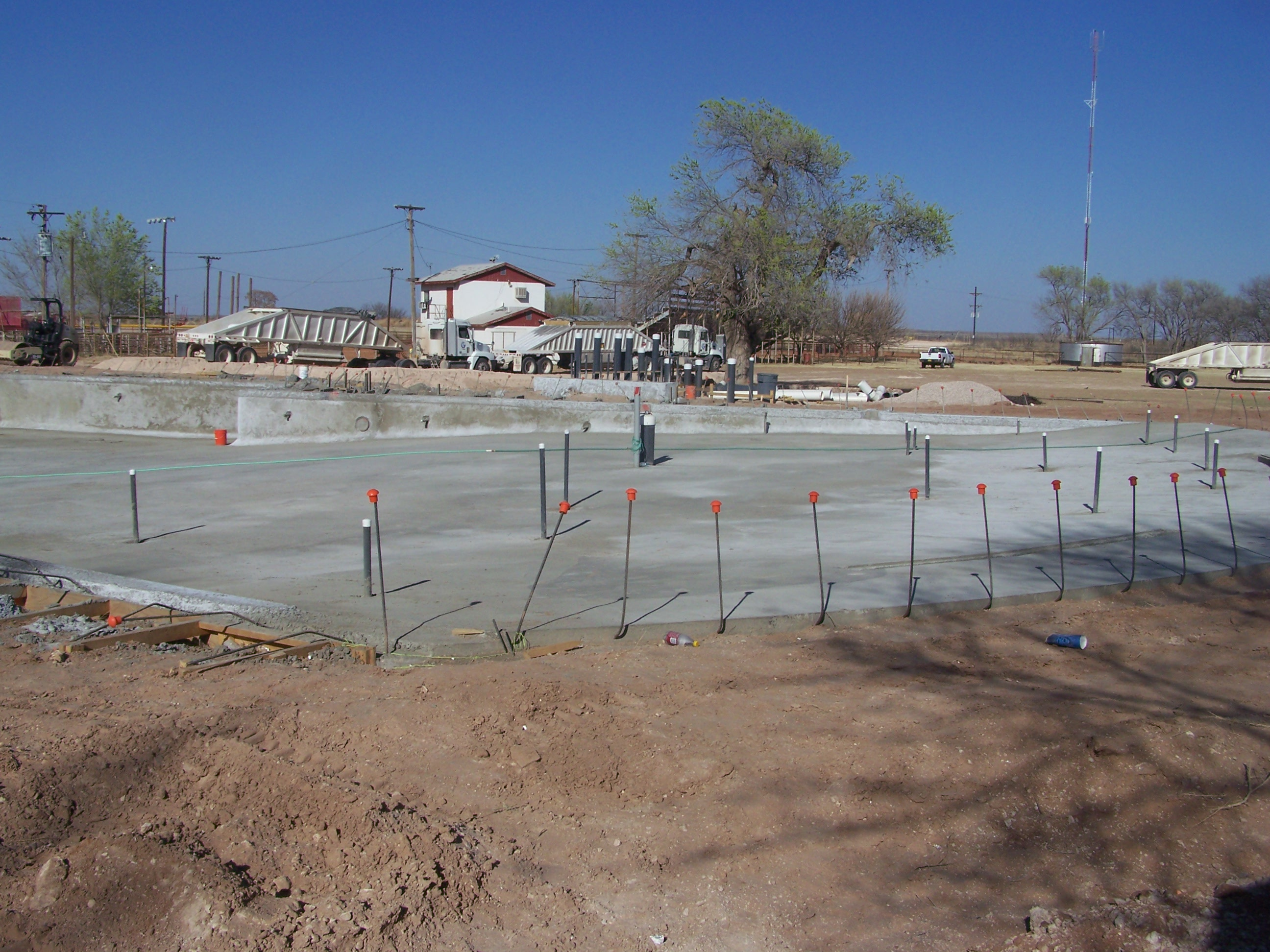 Foundation of Aquatic Center Pool