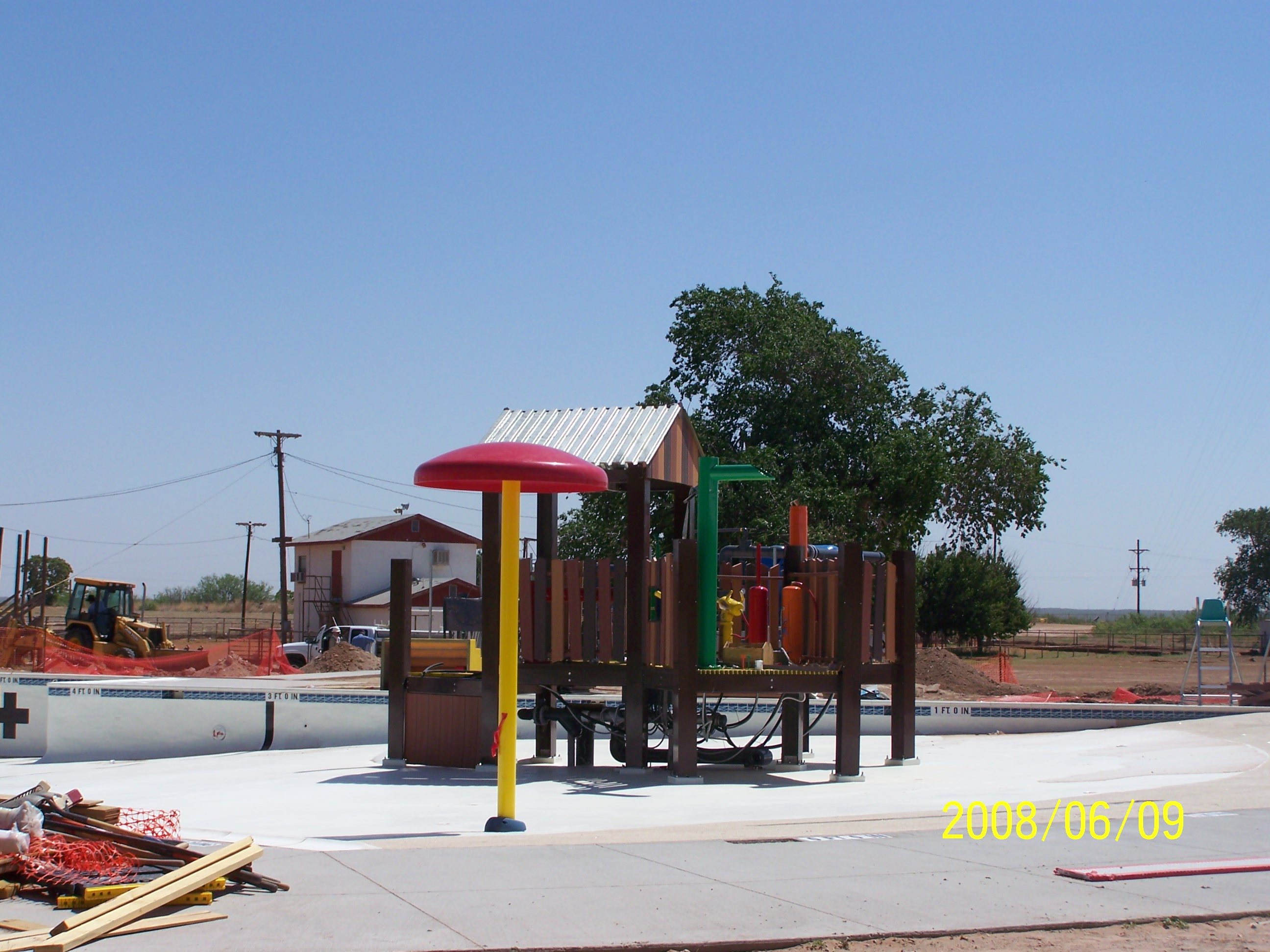 Construction of the Pool Playground