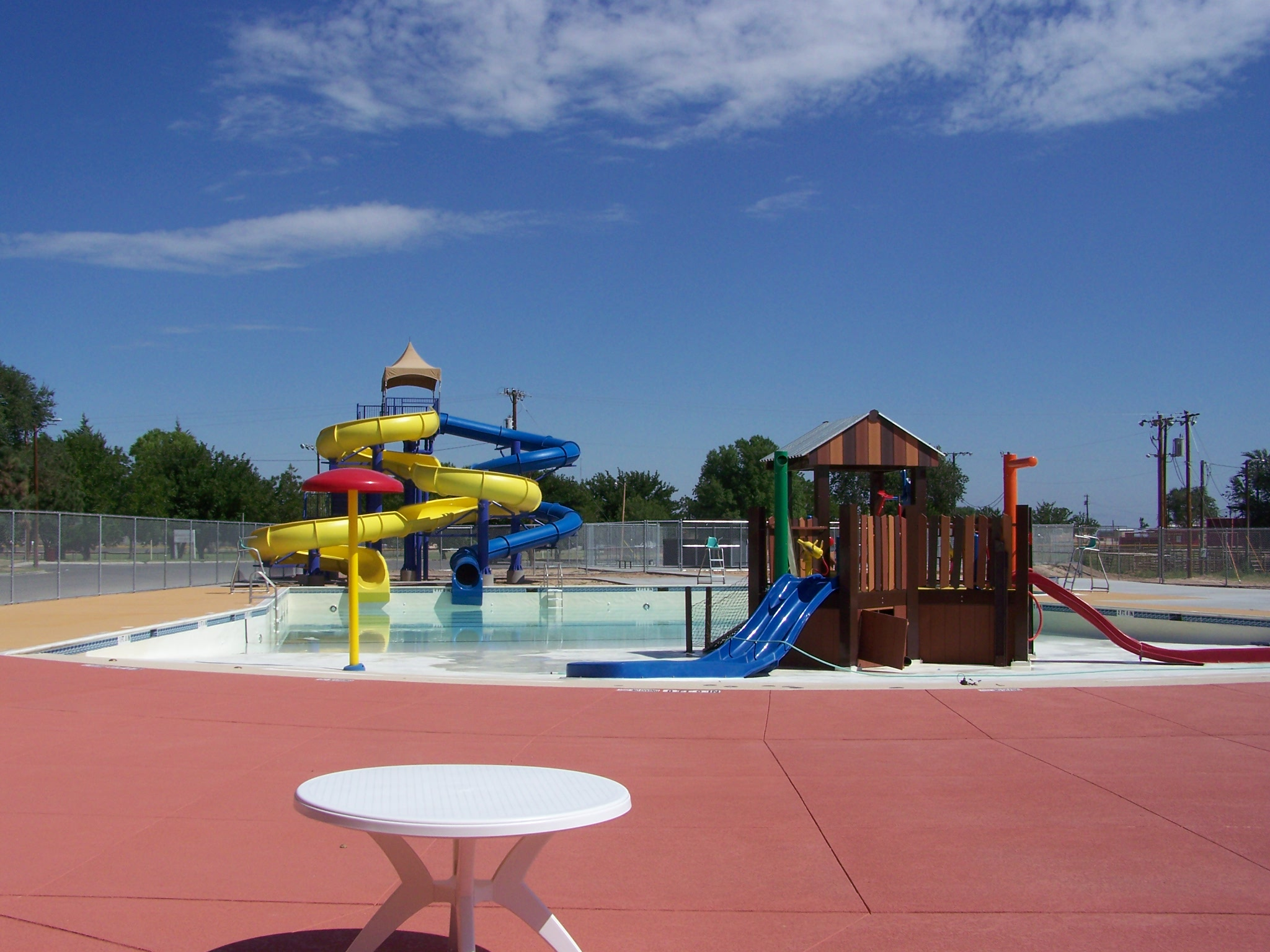 Aquatic Center Slides and Water Playground