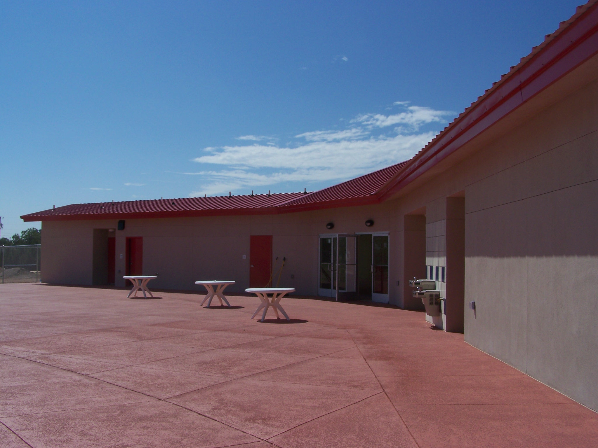Facility Building and Picnic Tables